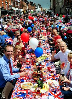 Celebrating being English - A street party to commemorate The Queen's Diamond Jubilee in Leicestershire
