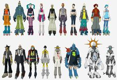 every playable character in jsrf