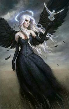 Imagem de angel, dark, and black