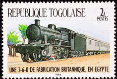 Togo Postage Stamp Railroad Steam Locomotive Train