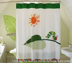 I love the The Very Hungry Caterpillar™ Shower Curtain on potterybarnkids.com
