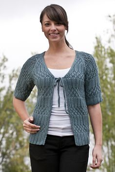 8fb26a0575858 Lace and Rib Top pattern by Fiona Ellis. Knit Cardigan PatternSweater  PatternsCascade ...
