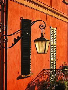orange facade