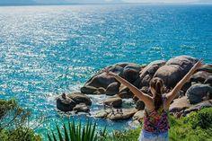 As incríveis piscinas naturais da Praia da Barra da Lagoa, em Florianópolis (SC). 📷@jessycamartins_  Marque suas fotos com #MTur e compartilhe o Brasil com a gente!