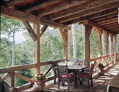 Timber home deck made from reclaimed timbers. Photo by Heidi Long.