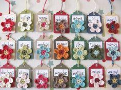 Crochet Flower Label