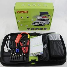 Real capacity 12000mA Multi-Function Car Battery Charger Jump Starter Car phone Power Bank Laptop External Rechargeable