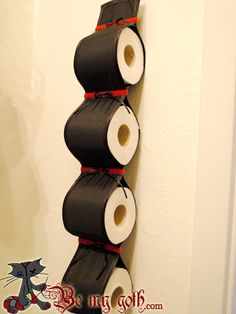 The easiest and fastest Fabric Toilet Paper Holder Tutorial - Step-by-Step PicturesBe My Goth