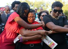 Lanitra Dean hugs Carlesha Harrison, a friend of Sandra Bland, during a vigil for Bland on Sunday at. - Jon Shapley/Houston Chronicle via AP Prison, Afro, Jail Cell, County Jail, Women Names, What The World, African American Women, African Americans, Black People