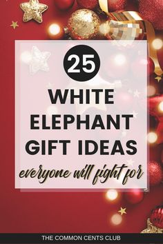 25 White Elephant Gift Ideas Everyone Will Fight For! // The Common Cents Club -- Christmas Gift Exchange, Diy Christmas Gifts For Family, 20 Gift Exchange Ideas, Yankee Swap Gift Ideas, Christmas Brunch, Christmas Goodies, Christmas Decor, Christmas Ideas, Christmas Tree