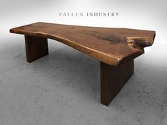 Live edge custom furniture and architectural elements made from reclaimed wood and fallen trees by Fallen Industry. Fallen Industry is a home and office design studio based in NYC Brooklyn. Created by New York sculptor and designer Paul Kruger.