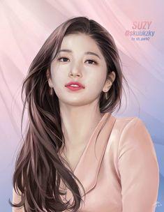 수지 팬아트 그리신분이 최근에도 그리셔서 그거랑 예전꺼 다올림 Hiba Tan, Miss A Suzy, Korean Painting, Girly Drawings, Asian Cute, Painting Of Girl, Digital Art Girl, Bae Suzy, Korean Actresses