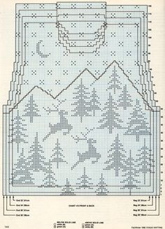 Snow and deer Christmas sweater pattern Intarsia Patterns, Fair Isle Knitting Patterns, Fair Isle Pattern, Knitting Charts, Knitting Stitches, Knitting Designs, Knit Patterns, Knitting Projects, Baby Knitting