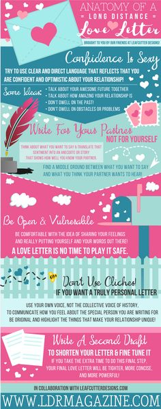 Writing a Long Distance Love Letter? Here's an Infographic To Help You With That! - LDR Magazine