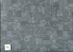 Worn Flagstone  paper flooring Jackson's Miniatures wallpaper dollhouse 1pc JM12 #JacksonsMiniatures