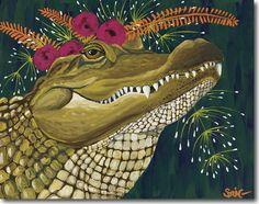 Spring Whitaker, Blanche, alligator, Skyline, print, printing, fine art, giclee