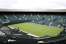 England - Centre Court at Wimbledon. First played in 1877, the Wimbledon Championships is the oldest tennis tournament in the world.