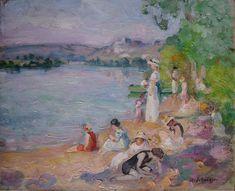 By the Lake Shore ~ Henri Lebasque (French 1865-1937)