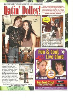 Jason Dolley, Full Page Pinup Clipping
