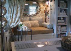 romantic toile hideaway bench