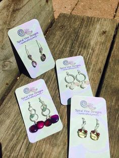 New earrings for sale at Northwood Gallery, Midland, Michigan.