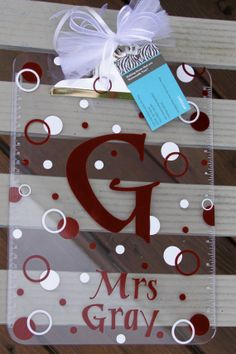 Personalized Acrylic Clipboard  Great Appreciation by LittleLad, $14.00