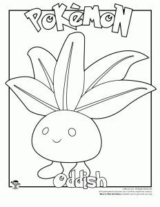 Oddish Coloring Page