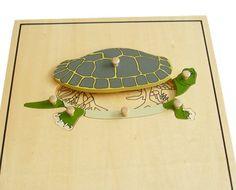 puzzle żółw szkielet Montessori