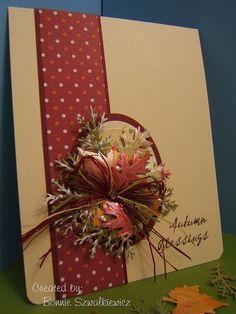 Card by Bonnie Szwalkiewicz (102612)  [Maple Leaf, Oak Leaf, Pine Branch]