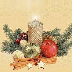 Papel de mesa única de 4 Servilletas Para Decoupage Corona Blanco Bow Navidad