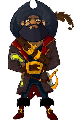 Pirates,  #Character, #Drawings, #Illustration