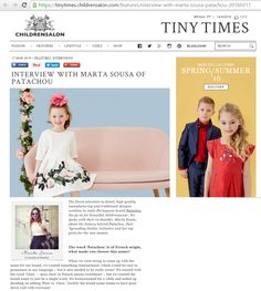 Welcome to the wonderful world of Patachou on Childrensalon :)  The British online retailer of high-end fashion and luxury clothes for children features a portrait of Patachou's Co- Founder. #growingeachday #dreaming #doing #bettereachday #truelove #world #ourplanet Read the full interview; http://goo.gl/XSe6OO Tiny Times Blog https://goo.gl/li0r2e Like, Comment and Share :)