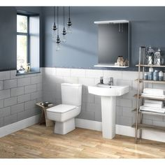 Get inspired by Modern Bathroom Design photo by Wayfair Home. Wayfair lets you find the designer products in the photo and get ideas from thousands of other Modern Bathroom Design photos. Compact Bathroom, Small Bathroom, Bathrooms, Bathroom Ideas, Cloakroom Ideas, Industrial Bathroom Design, Close Coupled Toilets, Contemporary Bathroom Designs, Modern Contemporary