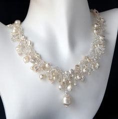 Royal Enchantment Wedding Necklace by beadsforever on Etsy, $195.00