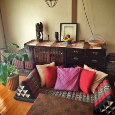 gokizou2さんの、三角枕,バリ雑貨,バリ風なお部屋,アジアン雑貨,アジアン,クッション,リビング,のお部屋写真
