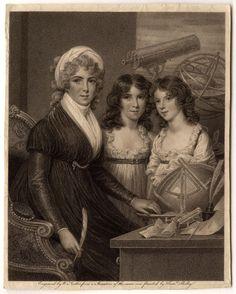Margaret and her daughters steel engraving.