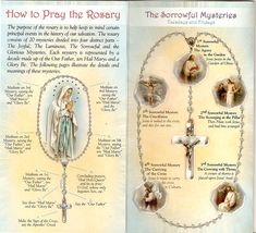 Learn how to pray the rosary with this Four-Fold Card. Praying the holy rosary can be a unifying practice that brings families and loved ones closer. Our foldable card teaches the proper way of praying the rosary but more importantly, it imparts the true meaning of this traditional Catholic practice. As a person goes through the mysteries of the rosary, he becomes aware of the journey of Jesus in order to save mankind. With the crucifix as its starting point, the mysteries t...