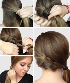 Braided side ponytail tutorial