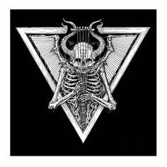 "Artist: Zbigniew M. Bielak The Complete Art Of Watain's Lawless Darkness"" Heavy Metal Art, Black Metal, Baphomet, Satan Drawing, Satanic Art, Skull Artwork, Arte Obscura, Gothic Art, Metalhead"