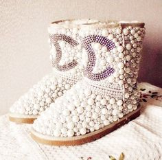 Chanel Pearl UGG Boots