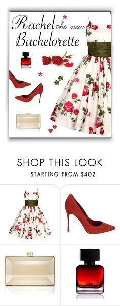 """Rose ceremony"" by molly2222 ❤ liked on Polyvore featuring Sergio Rossi, Judith Leiber, The Collection by Phuong Dang, Valentin Magro, Bachelorette, rosedress, taffeta and reflectionclutch"