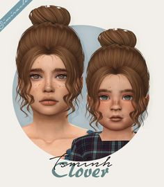 Simiracle: Tsminh`s Clover hair retextured - Sims 4 Hairs - http://sims4hairs.com/simiracle-tsminhs-clover-hair-retextured/