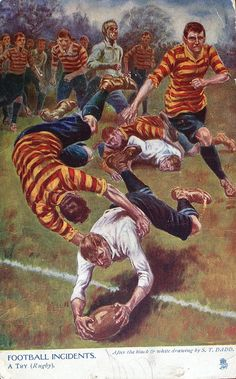 An poster sized print, approx (other products available) - Football Incidents - A Try (Rugby). Date: 1905 - Image supplied by Mary Evans Prints Online - poster sized print mm) made in Australia Rugby Sport, Rugby Men, Rugby Teams, Rugby Images, Rugby Poster, Fine Art Prints, Canvas Prints, Rugby League, Six Nations