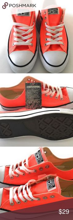 Converse Chuck Taylor All Star Ox Low Hyper Orange Converse Chuck Taylor All Star Ox Low Hyper Orange [155736F] Size Men 10 wom 12 and Size Men 11 wom 13 This is a really bright orange Converse Shoes Sneakers