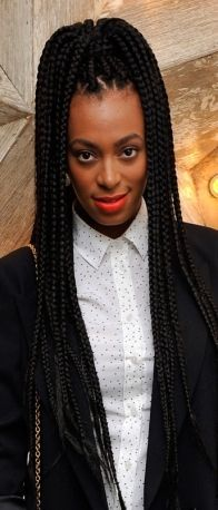 Poetic Justice braids on Solange.I love her swagger! Twist Box Braids, Micro Braids, Twists, Fishtail Braids, Braid Hair, Poetic Justice Braids, Protective Hairstyles, Afro Hairstyles, Black Hairstyles