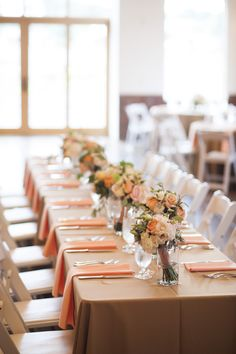 #bouquets as #centerpieces! Photography: Brinton Studios - BrintonStudios.com  Read More: http://stylemepretty.com/2013/10/18/colorado-mountain-wedding-from-brinton-studios-love-this-day-events/