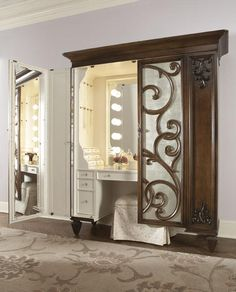 Makeup Armoire.... I had no idea I NEEDED this!!