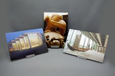 "The MOA Shop: ""Postcards"" featuring MOA's iconic architecture and Bill Reid's sculpture The Raven and the First Men."
