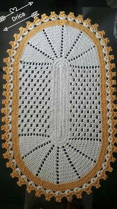 A Beaut Oval Rug [Free Crochet Pattern and Video Tutorial] Crochet Table Runner, Crochet Tablecloth, Lace Doilies, Crochet Doilies, Doily Rug, Crochet Home, Easy Crochet, Crochet Stitches Patterns, Cross Stitch Patterns