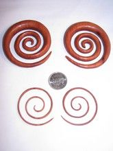 """mega, red, organic, sabo, wood, super, large, big, spiral,spirals, hoops, earrings, spacers, plugs, gauges, gages, gauged, gauge, chart, size, 12g, 10g, 8g, 6g, 4g, 2g, 0g, 00g, 7/16"""", 1/2"""", stretched, piercings, tribal, for sale, retail, online, body, jewelry, store, jewellry, canada, canadian, toronto, ontario"""